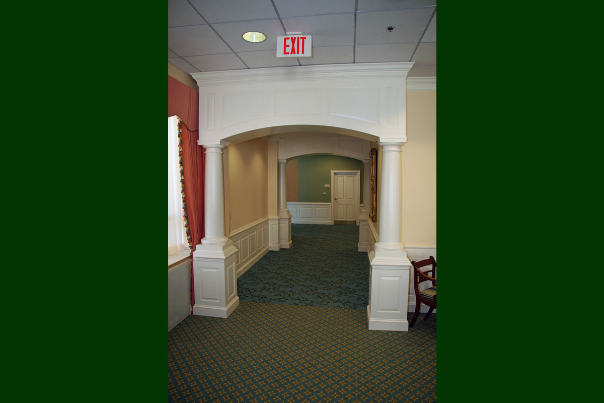 Entrance to newly renovated Anne Lee Room 4 at Goodwin House