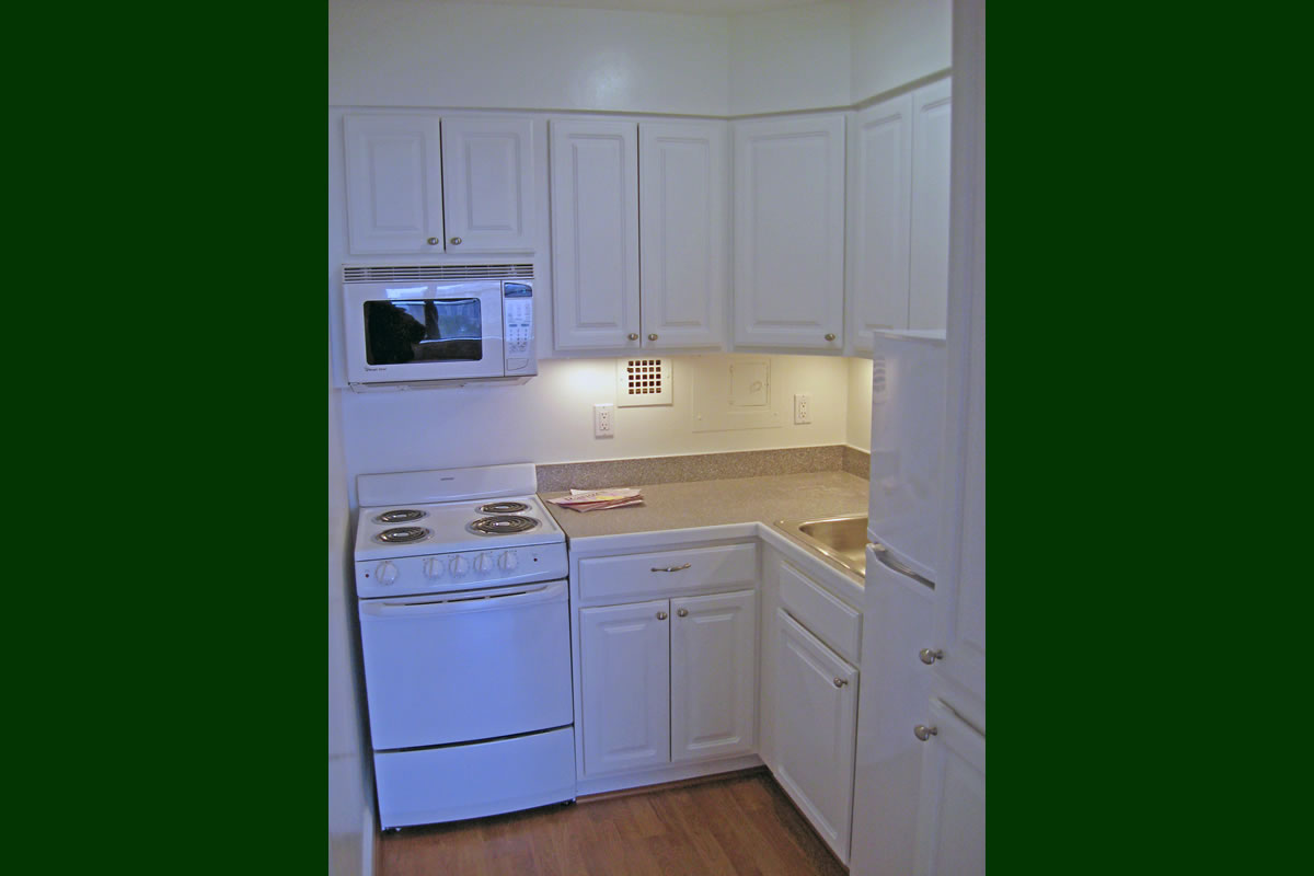 Kitchen renovation within Goodwin House apartment