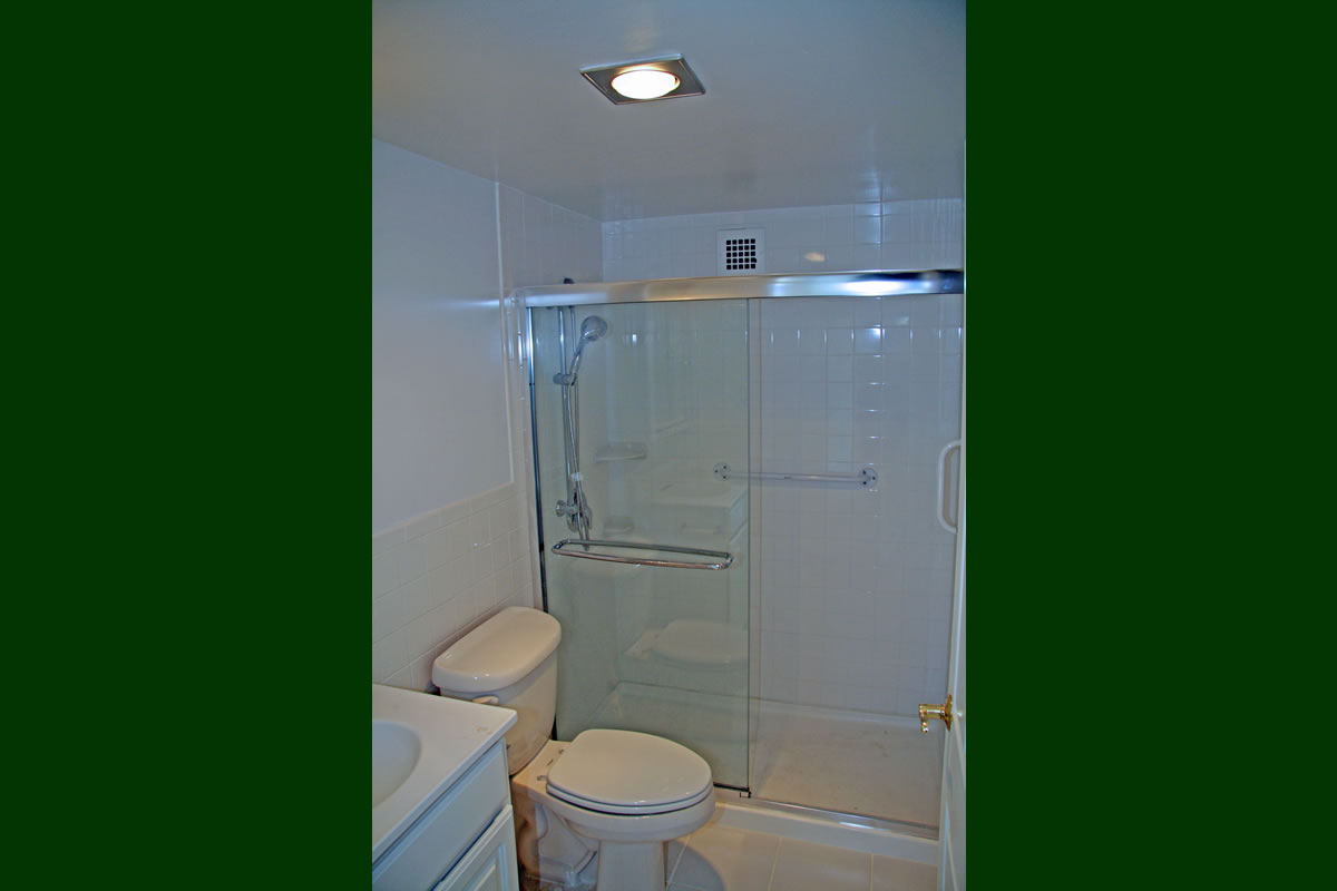 Bathroom renovation within Goodwin House apartment