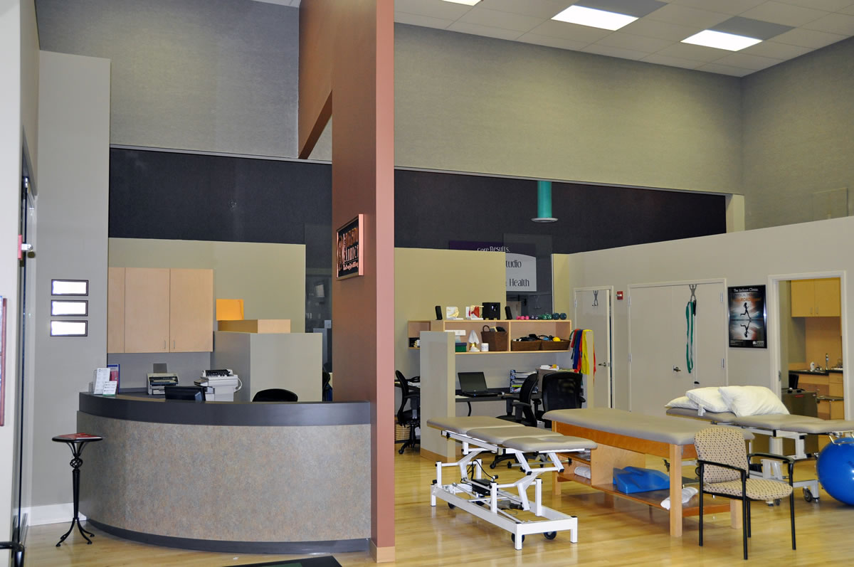 A fast-track design/build interior build-out of a new high-end physical therapy office, including custom millwork, new wall/floor finishes and coordination with the health club.