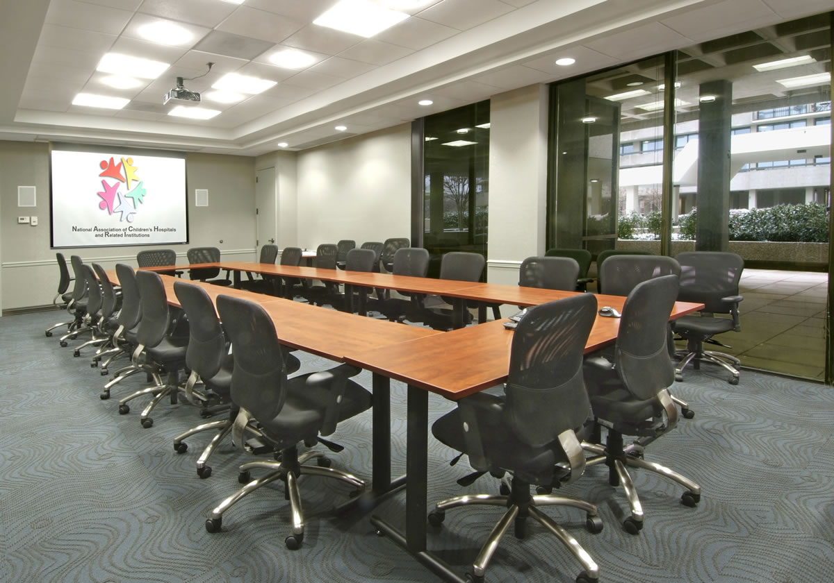 Newly renovated conference room with multi-media capabilities