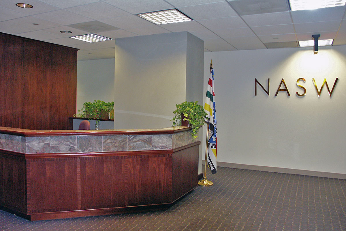 Newly renovated lobby for NASW