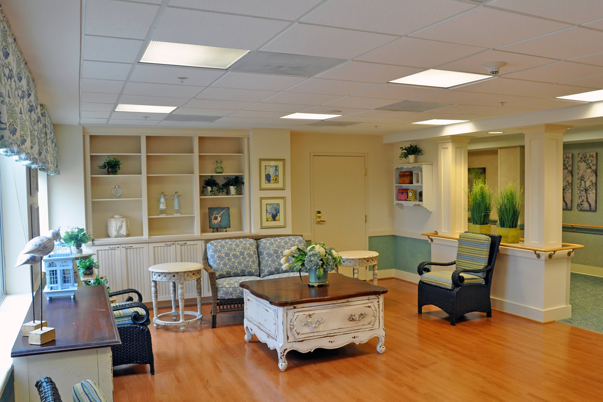Public spaces at Riderwood living facility were renovated by Cypress Contracting