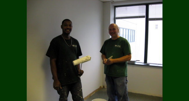 Cypress Contracting full-time staff performs service work.