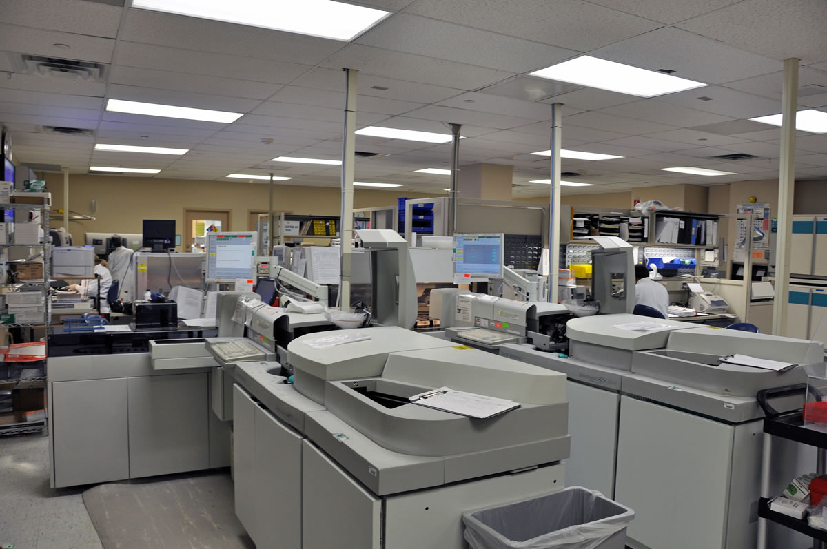 Multi-phased renovation to the main lab at Shady Grove Hospital