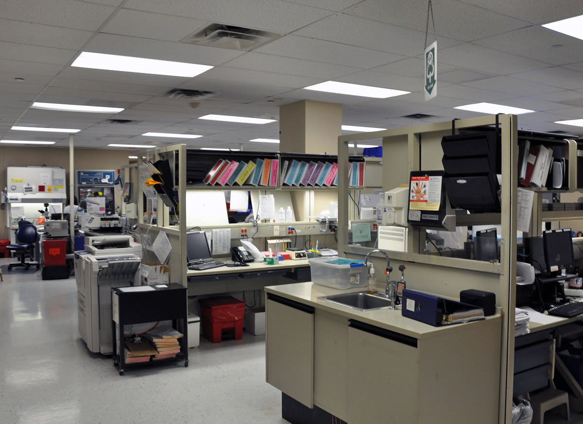 Cypress Contracting performed a multi-phased renovation to the main lab at Shady Grove Hospital