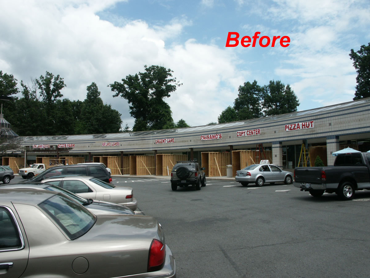 Before shopping center reovation by Cypress Contracting